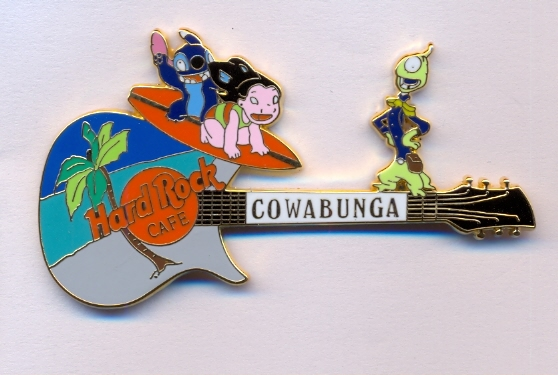 Cowabunga - Lilo and Stitch Guitar black
