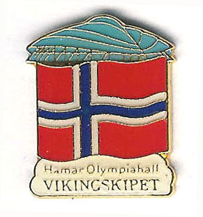 Hamar Olympic Venue norwegian flag - Vikingskipet