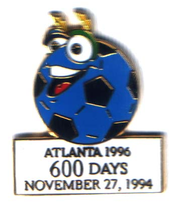 Atlanta 1996 Soccer Izzy 600 days to go