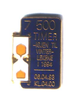 10 pins - 7500 hours to the winter games in 1994 - 06.04.93. 040