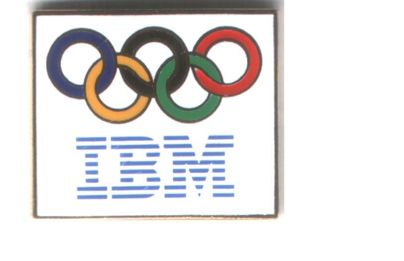 IBM logo pin white