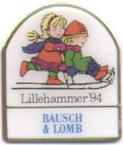 Bausch & Lomb mascots on a sledge