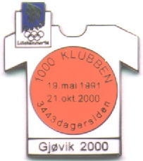 1000-klubben Gjøvik 2000 with number