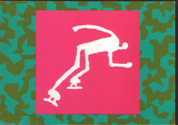 Postcard - pictogram Speed Skating