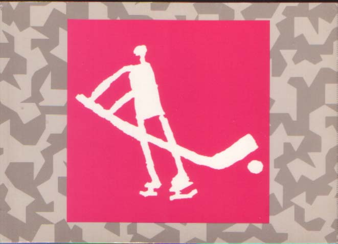 Postcard - pictogram Ice hockey