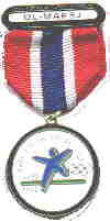 """Folk i Form"" with ribbon black circle on the medal"