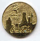 Sydney 2000 Coca Cola circle gold trim